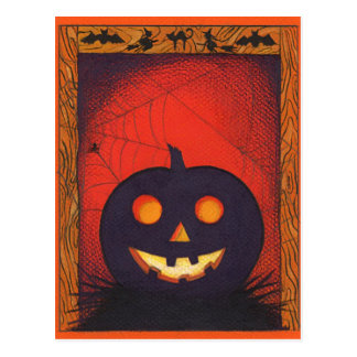Halloween Pumpkin Collage Postcard