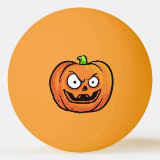 Halloween Pumpkin custom name ping pong ball