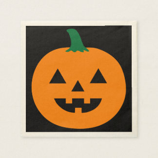 Halloween Pumpkin Design Disposable Napkins
