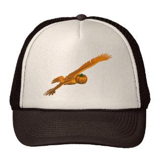 Halloween Pumpkin Eagle Mixture Trucker Hat
