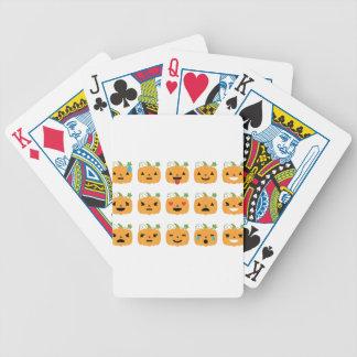 halloween pumpkin emojis bicycle playing cards