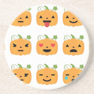 halloween pumpkin emojis coaster