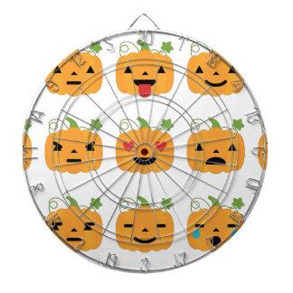 halloween pumpkin emojis dartboard