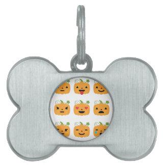 halloween pumpkin emojis pet tag