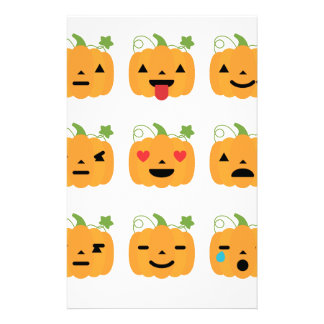 halloween pumpkin emojis stationery