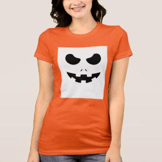 halloween pumpkin evil face smile T-Shirt