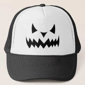 Halloween Pumpkin Evil Face Trucker Hat