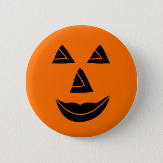 Halloween Pumpkin Face 2 Inch Round Button