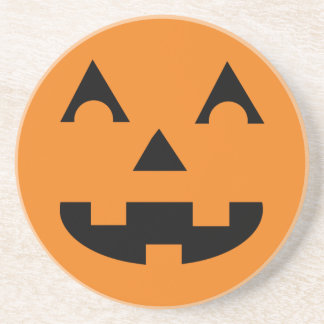 Halloween Pumpkin Face Coaster