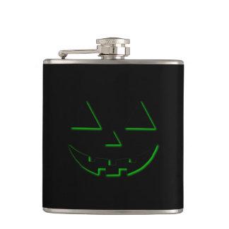 Halloween Pumpkin Face Hip Flask