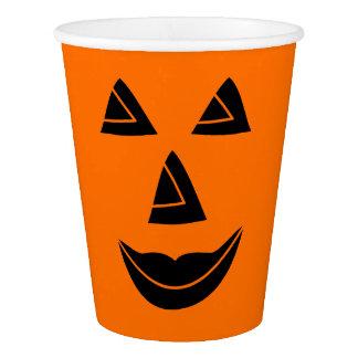 Halloween Pumpkin Face Paper Cup