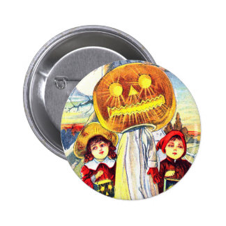 Halloween Pumpkin Ghost 2 Inch Round Button