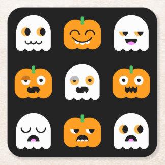 Halloween Pumpkin & Ghosts: Drink Coasters #1