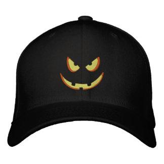 Halloween Pumpkin Grin - Booo! Embroidered Hat