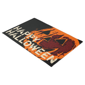 Halloween Pumpkin - grunge style + your ideas Doormat