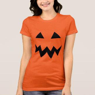 Halloween pumpkin head face party shirt for women
