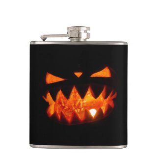 Halloween Pumpkin Hip Flask