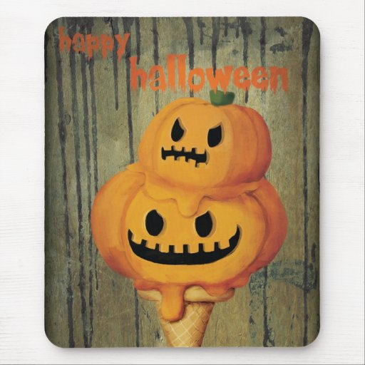 Halloween Pumpkin Ice Cream Cone Mousepad