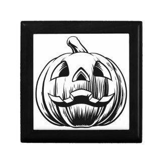 Halloween Pumpkin Illustration Gift Box