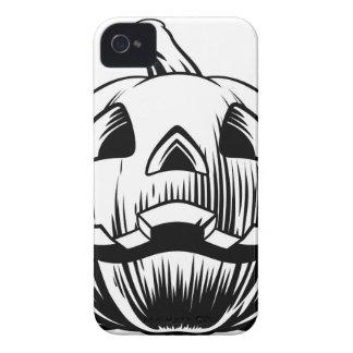 Halloween Pumpkin Illustration iPhone 4 Case-Mate Cases