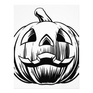 Halloween Pumpkin Illustration Letterhead