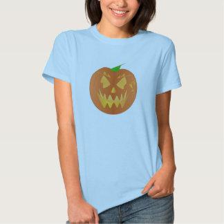 Halloween Pumpkin In Baby Blue Shirts