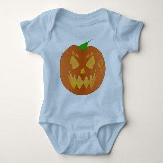 Halloween Pumpkin In Light Blue Tee Shirt