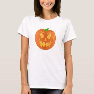 Halloween Pumpkin In Yellow T-Shirt