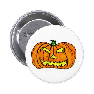 Halloween Pumpkin Jack-o -Lantern Buttons