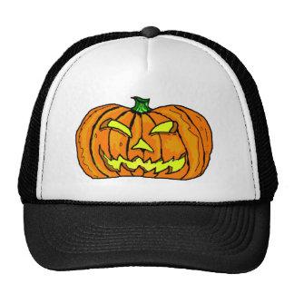 Halloween Pumpkin Jack-o -Lantern Mesh Hat