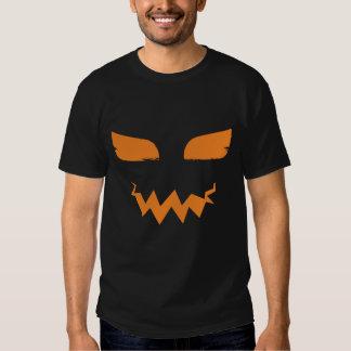 Halloween Pumpkin Jack o Lantern Scary Face Tee Shirts