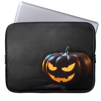 Halloween Pumpkin Jack-O-Lantern Spooky Computer Sleeves