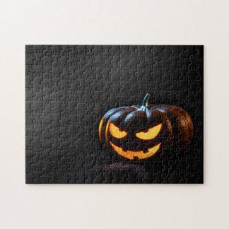 Halloween Pumpkin Jack-O-Lantern Spooky Jigsaw Puzzle