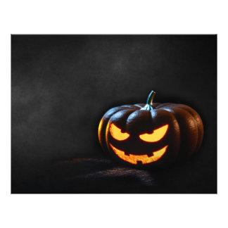 Halloween Pumpkin Jack-O-Lantern Spooky Letterhead Template