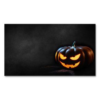 Halloween Pumpkin Jack-O-Lantern Spooky Magnetic Business Card