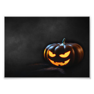 Halloween Pumpkin Jack-O-Lantern Spooky Photo Print
