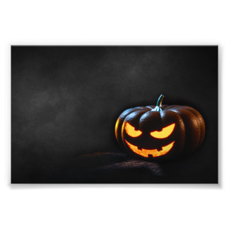 Halloween Pumpkin Jack-O-Lantern Spooky Photo Print