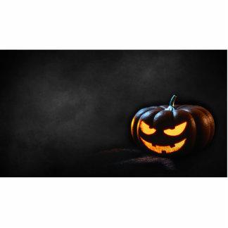 Halloween Pumpkin Jack-O-Lantern Spooky Photo Sculpture Ornament