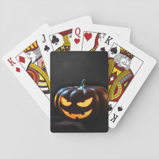 Halloween Pumpkin Jack-O-Lantern Spooky Playing Cards