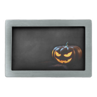 Halloween Pumpkin Jack-O-Lantern Spooky Rectangular Belt Buckle