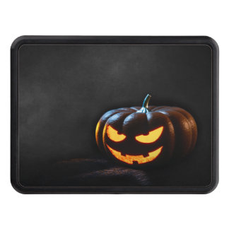 Halloween Pumpkin Jack-O-Lantern Spooky Trailer Hitch Cover