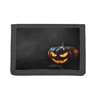 Halloween Pumpkin Jack-O-Lantern Spooky Tri-fold Wallet