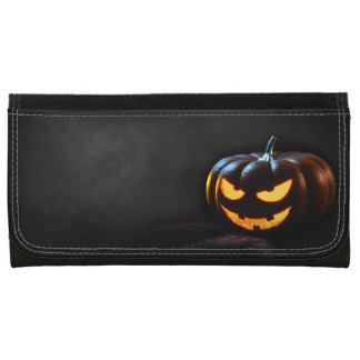 Halloween Pumpkin Jack-O-Lantern Spooky Women's Wallet