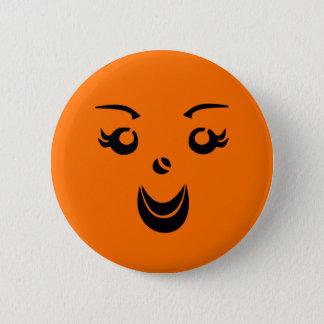 Halloween Pumpkin Lady 2 Inch Round Button