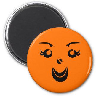 Halloween Pumpkin Lady Magnet
