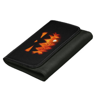 Halloween Pumpkin Leather Wallet For Women