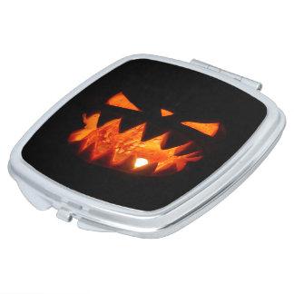 Halloween Pumpkin Makeup Mirror
