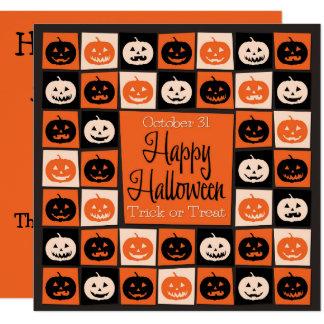 Halloween pumpkin mosaic card