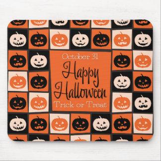 Halloween pumpkin mosaic mouse pad