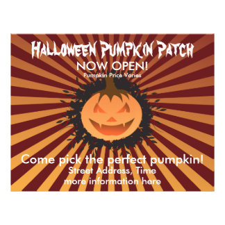 Halloween Pumpkin Patch Full Color Flyer